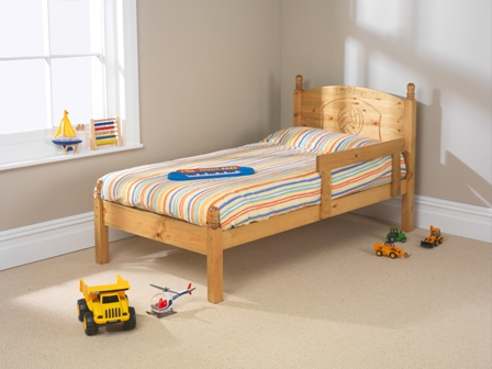 Football Wooden Frame Bed With Guard Rail Gb Beds