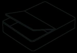 Bed storage options - half ottoman